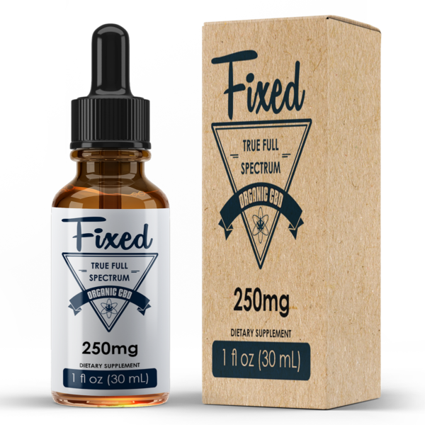 Fixed Wellness™ 250mg | Pure Organic Tincture Oil | Fixedwellness